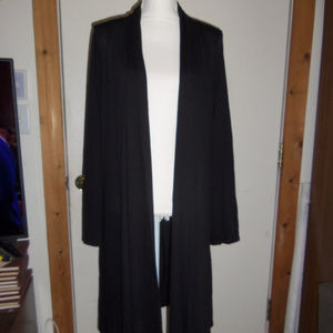 Rags & Couture Knee Length Open Front Cardigan XL